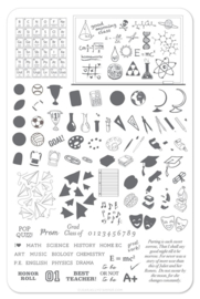 Clear Jelly Stamper - Big Stamping Plate - CJS_42 - Back to School - Scholastic