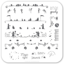 Clear Jelly Stamper - Stamping Plate - CJS_H41 - Let's Get Spooky!