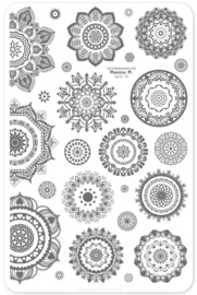 Clear Jelly Stamper - Big Stamping Plate - CJS_LC19 - Manisha's Mandalas