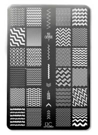 UberChic - Big Nail Stamping Plate - Got Chevron - 01
