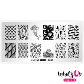 Whats Up Nails - Stamping Plate - B038 Lost At Sea
