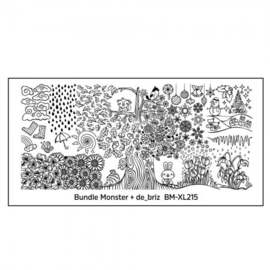 Bundle Monster - de_briz Blogger Collaboration Nail Art Polish Stamping Plates - (BM-XL215)