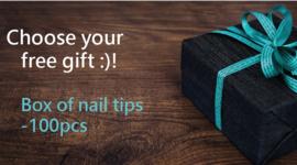 Choose your free gift :)!  Box of nail tips - 100 pcs