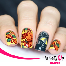 Whats Up Nails - Stamping Plate - A011 Leaves Are Fall-ing