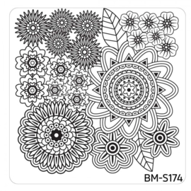 Bundle Monster - Mystic Woods Nail Stamp Plate - Flower Buffet