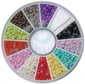 Nagel Wiel -  Parels - Gekleurd 2 mm