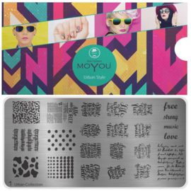 Moyou Nail Fashion - XL Stamping Plate - Urban Collection - 1
