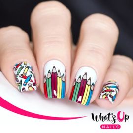 Whats Up Nails - Stamping Plate - B030 School's In Session