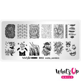 Whats Up Nails - Stamping Plate - B052 sveta_sanders