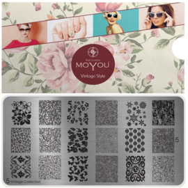 Moyou Nail Fashion - XL Stamping Plate - Vintage Collection - 5