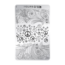 Yours Cosmetics - Stamping Plates - :YOURS Loves Sascha - YLS24. Peaceful Pleasure