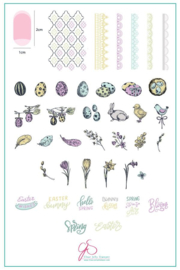 Clear Jelly Stamper - Big Stamping Plate - CJS_H29 - Bunny Kisses