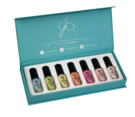 Clear Jelly Stamper - Stamping Polish Kit - Pastel (7 Colours)