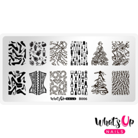 Whats Up Nails - Stamping Plate - B006 A Lá Mode