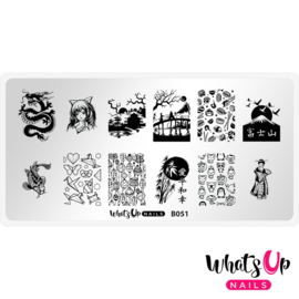 Whats Up Nails - Stamping Plate - B051 I Just Want Sushi