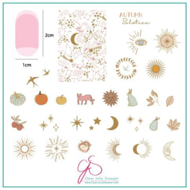 Clear Jelly Stamper - Medium Stamping Plate - CJS_168 - Autumn Solstice