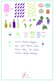 Clear Jelly Stamper - Big Stamping Plate - CJS_LC20 - A Friend With Wine
