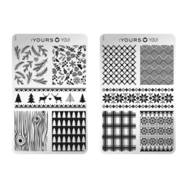 Yours Cosmetics - Stamping Plates - YOURS Loves YOU – YLY03. Winter wolly (double sided)