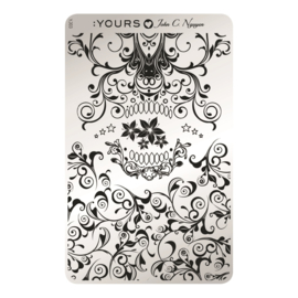 Yours Cosmetics - Stamping Plates - :YOURS Loves John - YLJ03. Skulligree