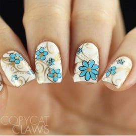 Clear Jelly Stamper - Stamping Plate - CJS_14 - Floral Swirl #2
