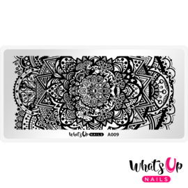 Whats Up Nails - Stamping Plate - A009 Mandala Universe