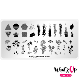 Whats Up Nails - Stamping Plate - A020 Floralize Your Texture