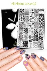 Lina - Stamping Plate - All About Love - 02
