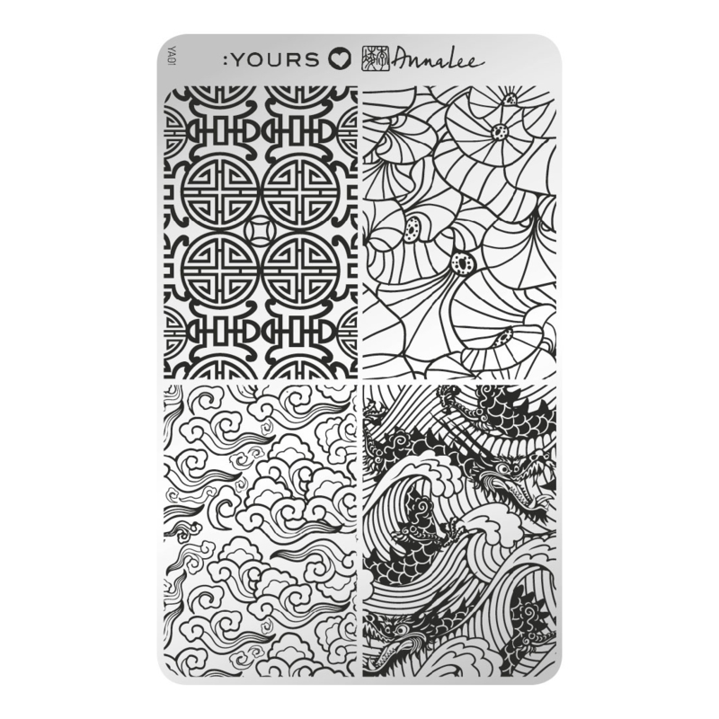 Yours Cosmetics - Stamping Plates - :YOURS Loves Anna Lee - YLA01. Ru Yi