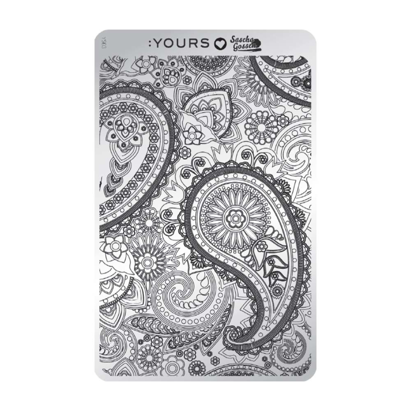 Yours Cosmetics - Stamping Plates - :YOURS Loves Sascha - YLS03. Paisley Heaven