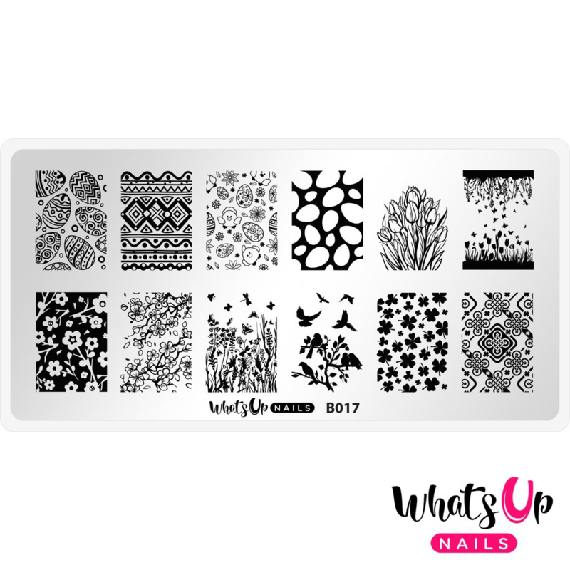 Whats Up Nails - Stamping Plate - B017 Spring Elation