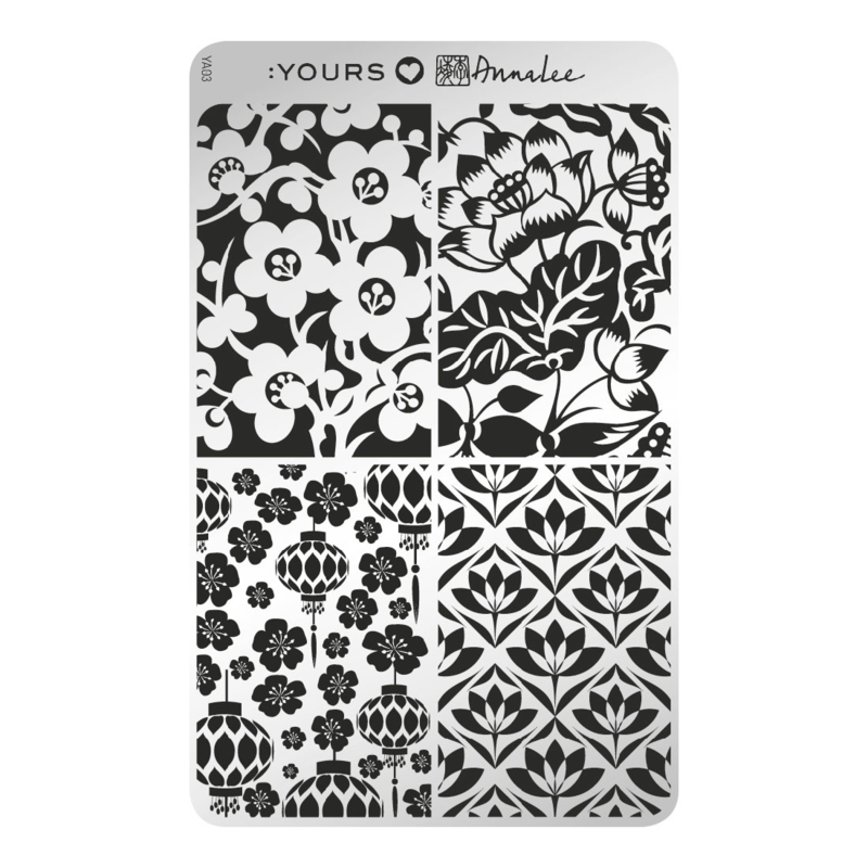 Yours Cosmetics - Stamping Plates - :YOURS Loves Anna Lee - YLA03. Orient Blossoms