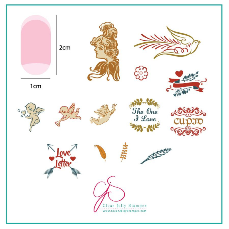 Clear Jelly Stamper - Stamping Plate - CJS_V09 - Cupid