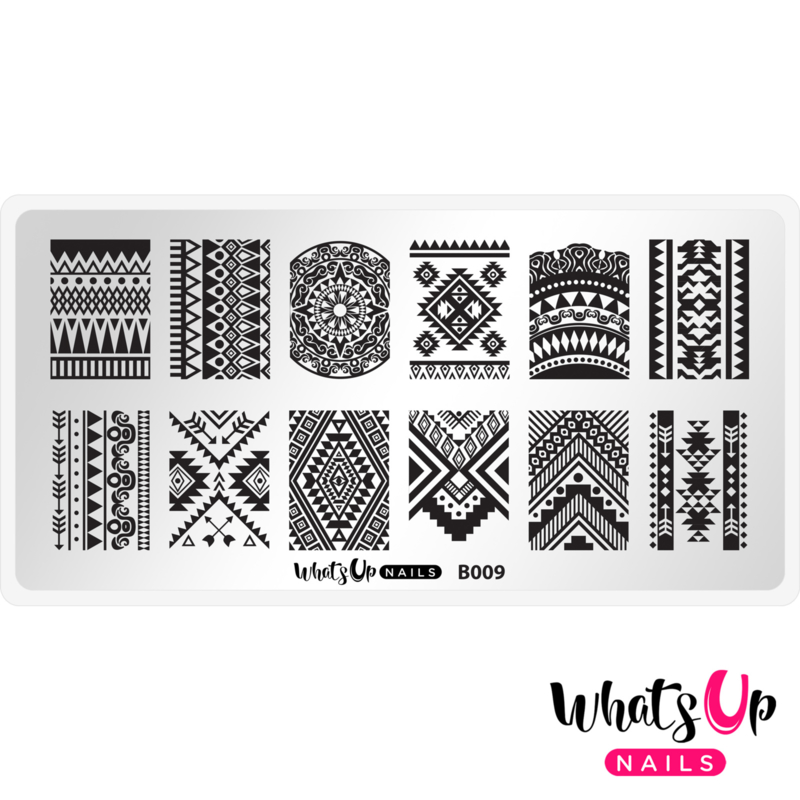 Whats Up Nails - Stamping Plate - B009 Lost in Aztec