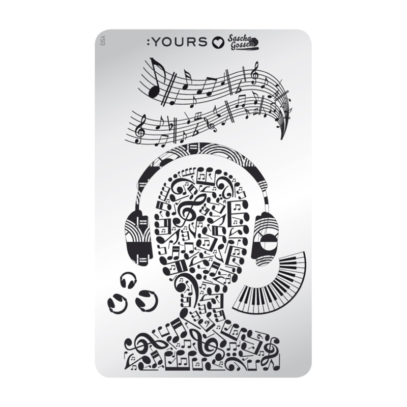 Yours Cosmetics - Stamping Plates - :YOURS Loves Sascha - YLS13. Make The Music