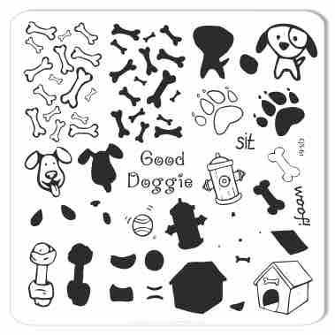 Clear Jelly Stamper - Stamping Plate - CJS_61 Woof