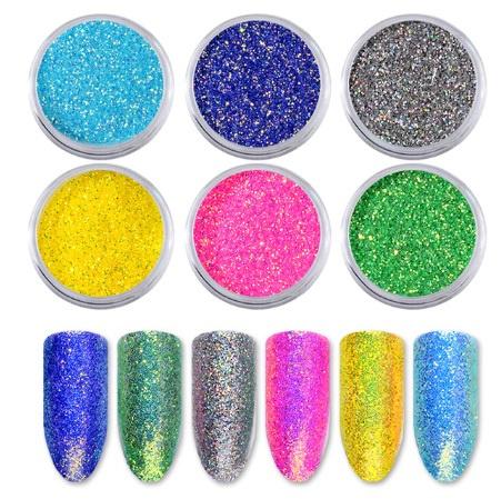 Nailways - Holografisch Shiny Color Nagel Poeder Set