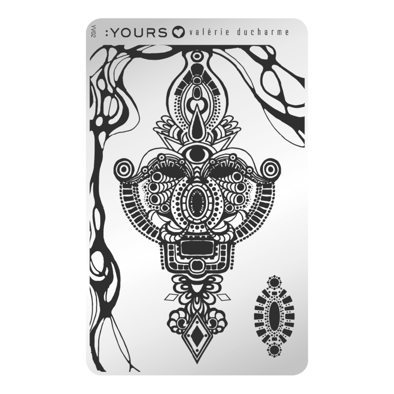 Yours Cosmetics - Stamping Plates - :YOURS Loves Valerie - YLV02. Spiritual Mystery