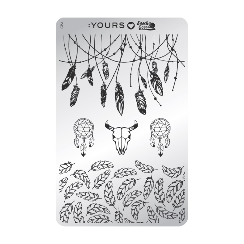 Yours Cosmetics - Stamping Plates - :YOURS Loves Sascha - YLS23. Gorgeous Gypsy