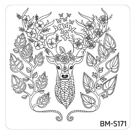 Bundle Monster - Mystic Woods Nail Stamp Plate - My Name Is Buck