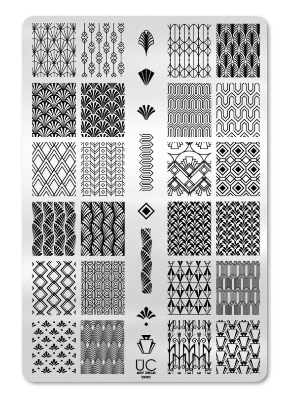 UberChic - Big Nail Stamping Plate - Art Deco Chic