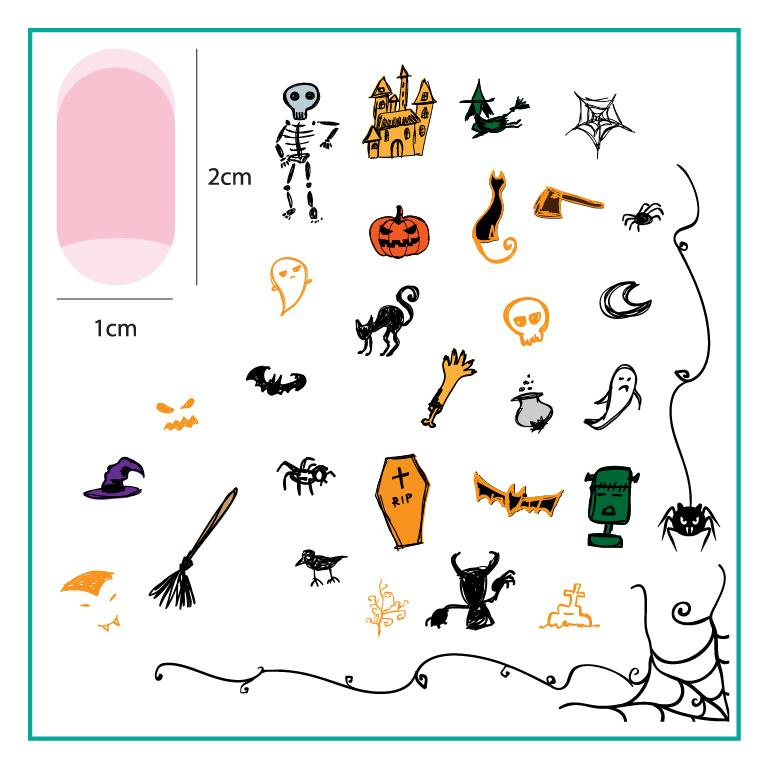 Clear Jelly Stamper - Stamping Plate - CJS_H38 - Haunted Doodle