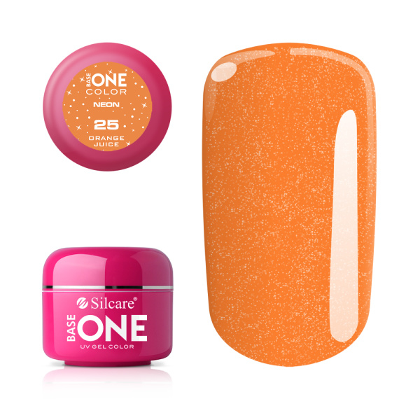Base One - UV COLOR GEL - Neon - 25. Orange Juiche