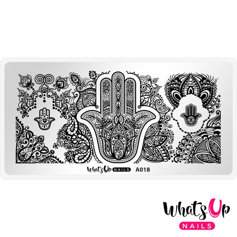 Whats Up Nails - Stamping Plate - A018 Spirits of Hamsa