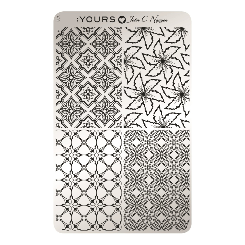 Yours Cosmetics - Stamping Plates - :YOURS Loves John - YLJ01. Kaleidoscope