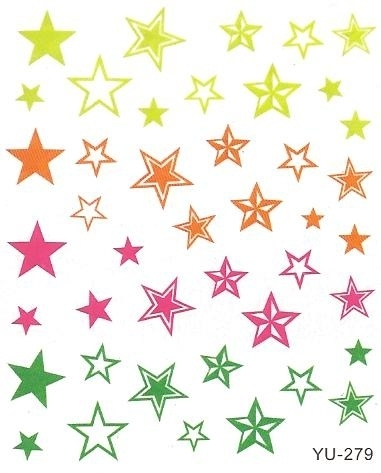 Waterdecals - Colored Stars