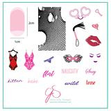 Clear Jelly Stamper - Stamping Plate - CJS_V07 Risqué