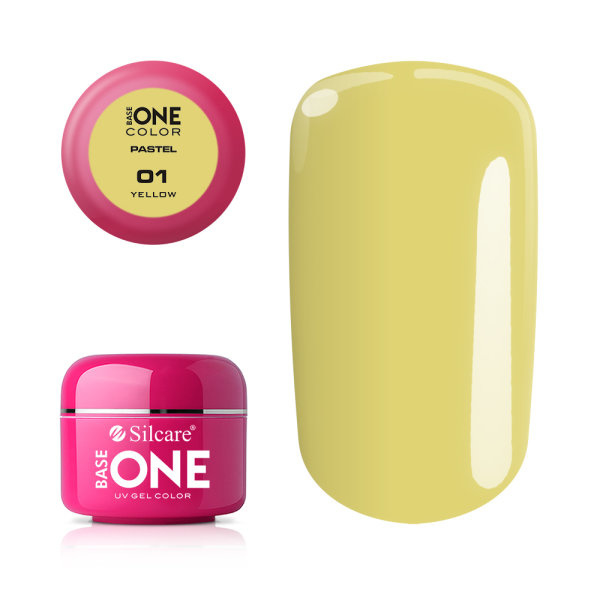 Base One - UV COLOR GEL - Pastel - 01. Yellow
