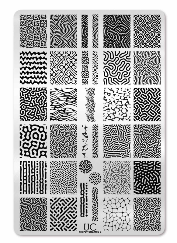 UberChic  - Big Nail Stamping Plate - Simply Organic-02