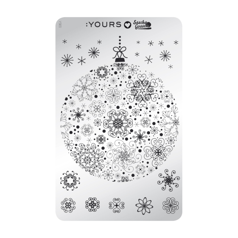 Yours Cosmetics - Stamping Plates - :YOURS Loves Sascha - YLS09. Merry Stamping