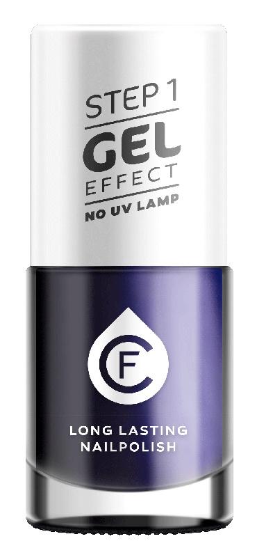 CF Gel Effekt Nagellak - Step 1 - 406. Dark Blue Metallic